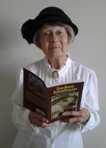 Irene Francis with One-Room Schoolhouses