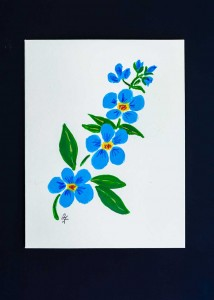 Blue Forget Me Not on Stem