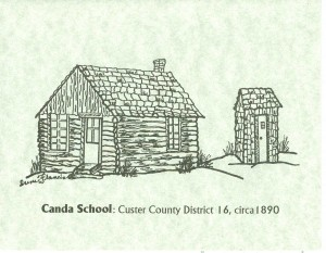 Canda School, Custer County, Colorado