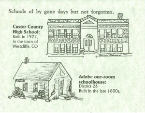 Custer County High School and Adobe School, Custer County, Colorado
